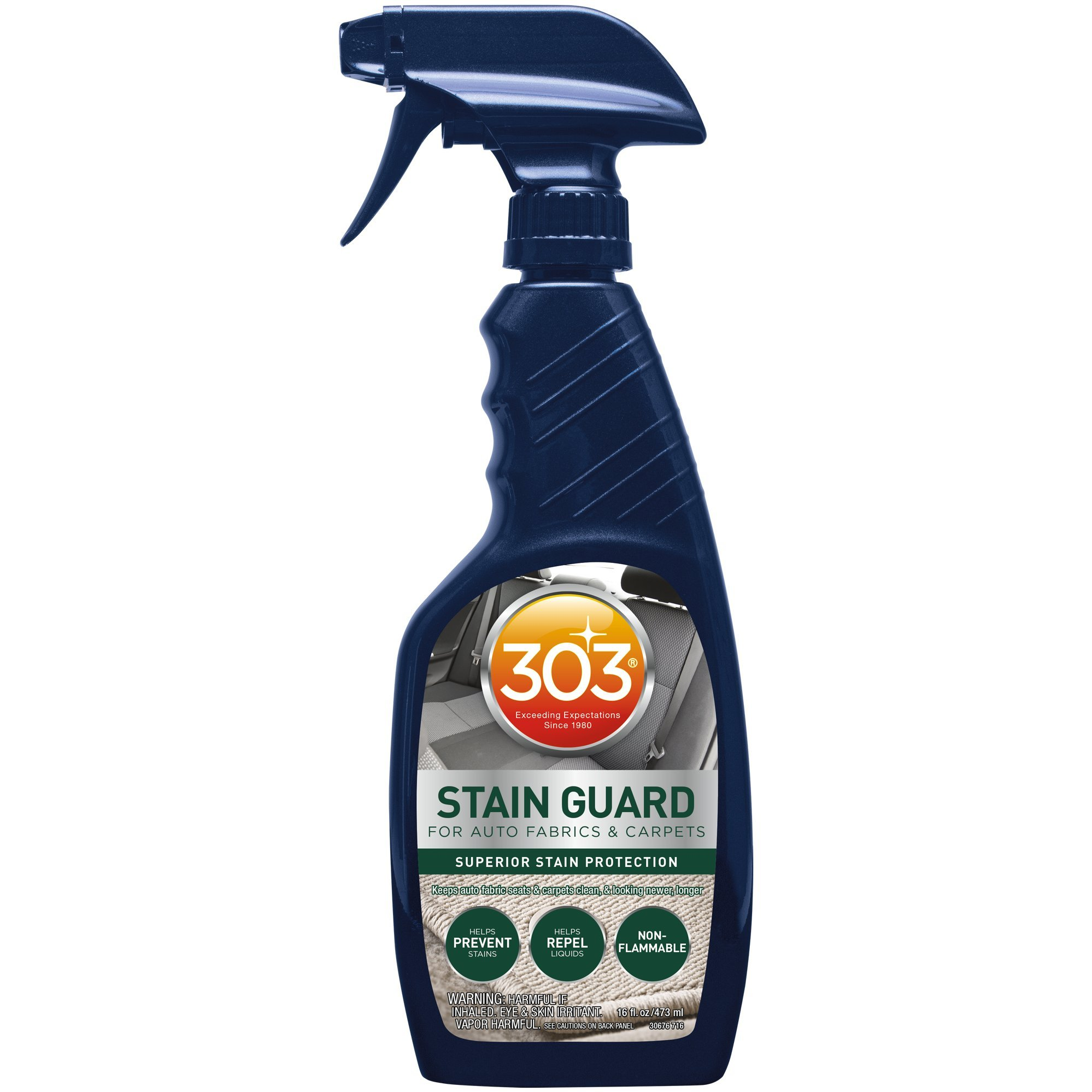 303 (30676-6PK) Fabric Protector and Stain Guard for Auto Interior Fabrics, Carpets and Floor Mats, 16 fl. oz., Pack of 6
