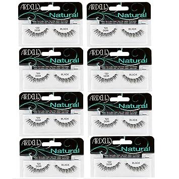 bd3edd4f97 Amazon.com : Ardell Fashion Lashes Natural Strip Lash, (Black) [120] 1 each  ( Pack of 8) : Beauty