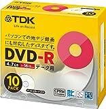 TDK データ用DVD-R CPRM対応 4.7GB 1-16倍速対応 パールカラーディスク 10枚パック 5mmスリムケース DR47DALC10S
