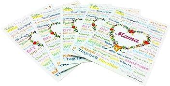 MAMA A6 Muttertag Postkarten Geburt Druck Geschenk Babyshower Babyparty Hochzeit Mothersday Danke Mitbringsel Schwiegermutter