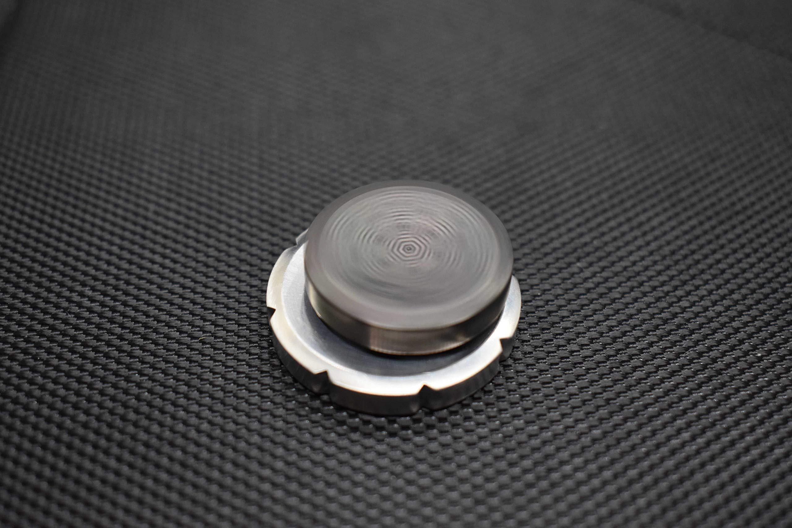 MetonBoss Worry Coin Black Zirconium & Ruby Bearing   Everyday Carry Gear   Precision-Made and Desktop Display by MetonBoss (Image #8)