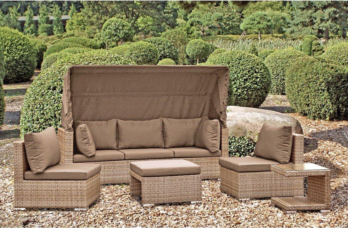 Garden Pleasure Juego de 5 Piezas Lounge Salamanca con cojín ...