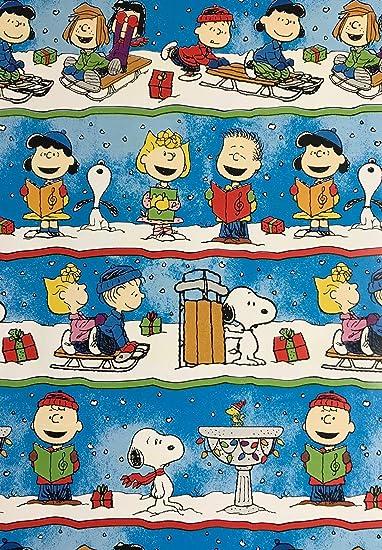 Christmas Caroling Images.Amazon Com Charlie Brown The Gang Christmas Caroling Wrapping
