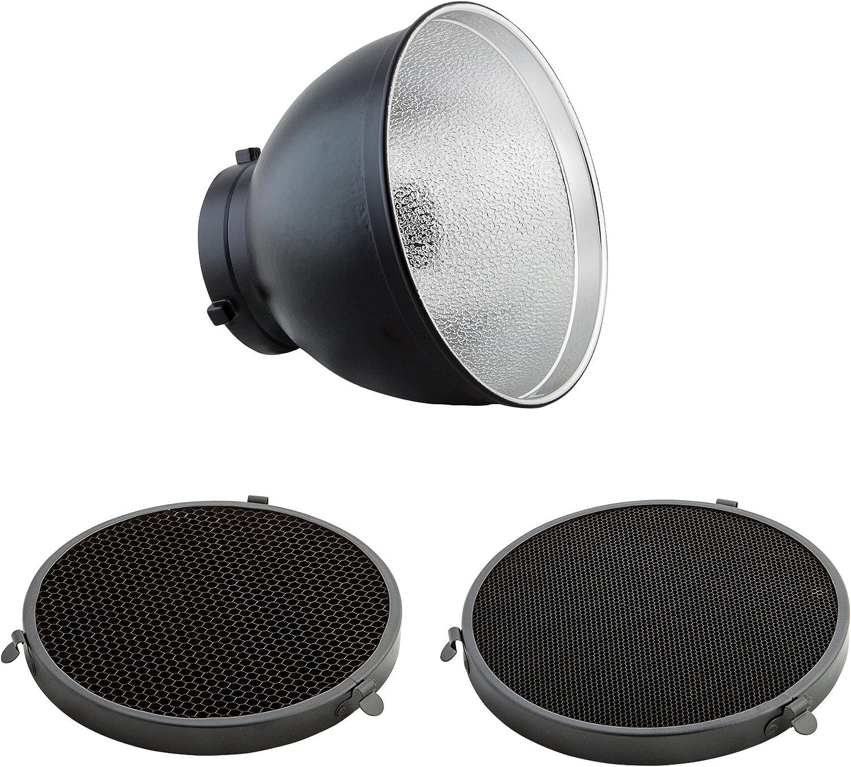 20 cm Durchmesser PhotoSEL FRS558 Standardreflektor 55 Grad Halterung Bowens Typ S