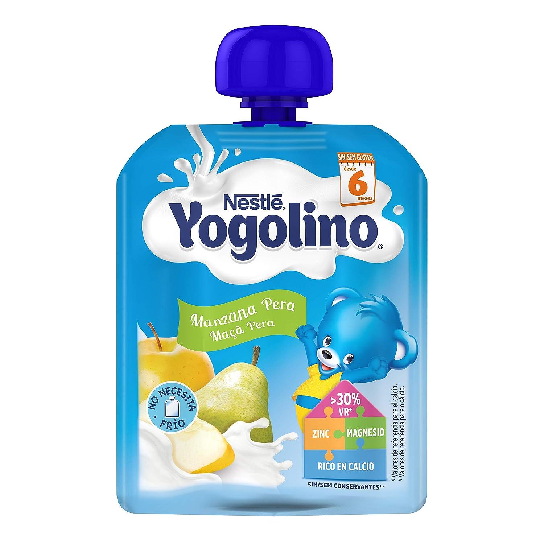Nestlé Yogolino Postre lácteo Bolsitas con Manzana y Pera - Para bebés a partir de 6 meses - Paquete de 16 unidadesx90g: Amazon.es: Alimentación y bebidas