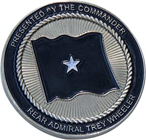 US Navy Rear Admiral Trey Wheeler Challenge Coin