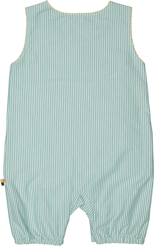 Loud Proud Striped Short Overall Organic Cotton Grenouill/ère B/éb/é Fille