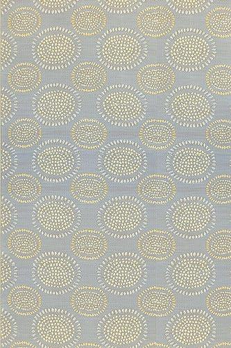 Mad Mats Molly Indoor Outdoor Floor Mat, 5 by 8-Feet, Grey Yellow