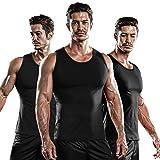 DRSKIN 1~3 Pack Undershirts Running Shirt Tank Tops Men's Cool Dry Compression Baselayer Sleeveless (NM-TA-(B,B,B), M)