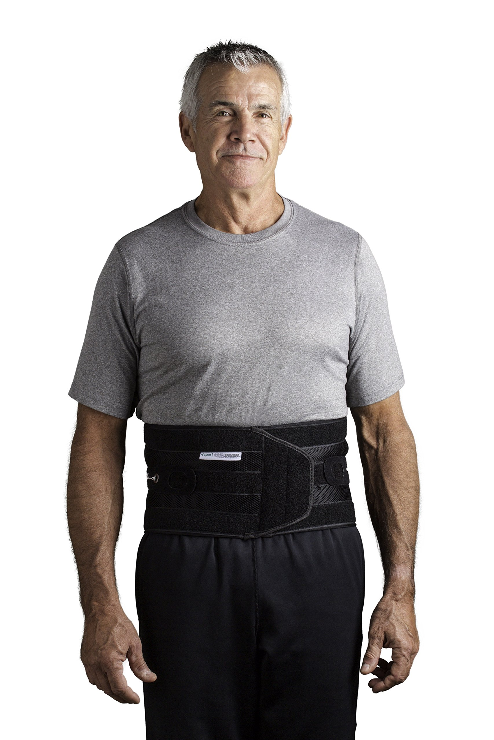 Aspen Quickdraw Pro Back Brace, Black Large (36-42 inches) Waist