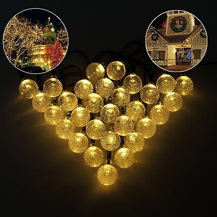 Gentil Solar String Lights, Novopal Solar Powered Garden String Christmas Lights  Globe Crystal Patio Lights For