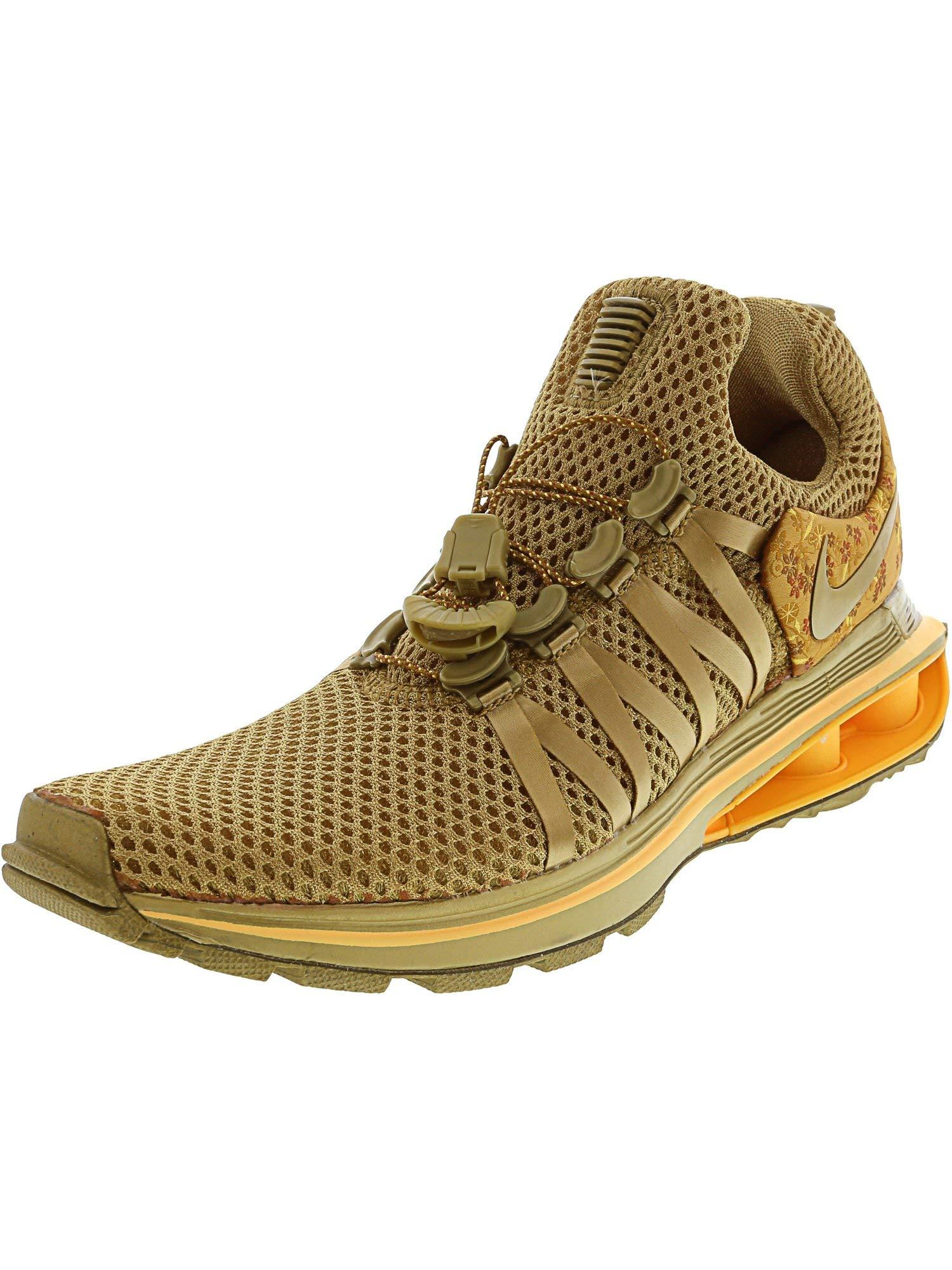 Nike Womens Shox Gravity Metallic Gold Running Shoe AQ8854-700 (6.5 B(M) US)