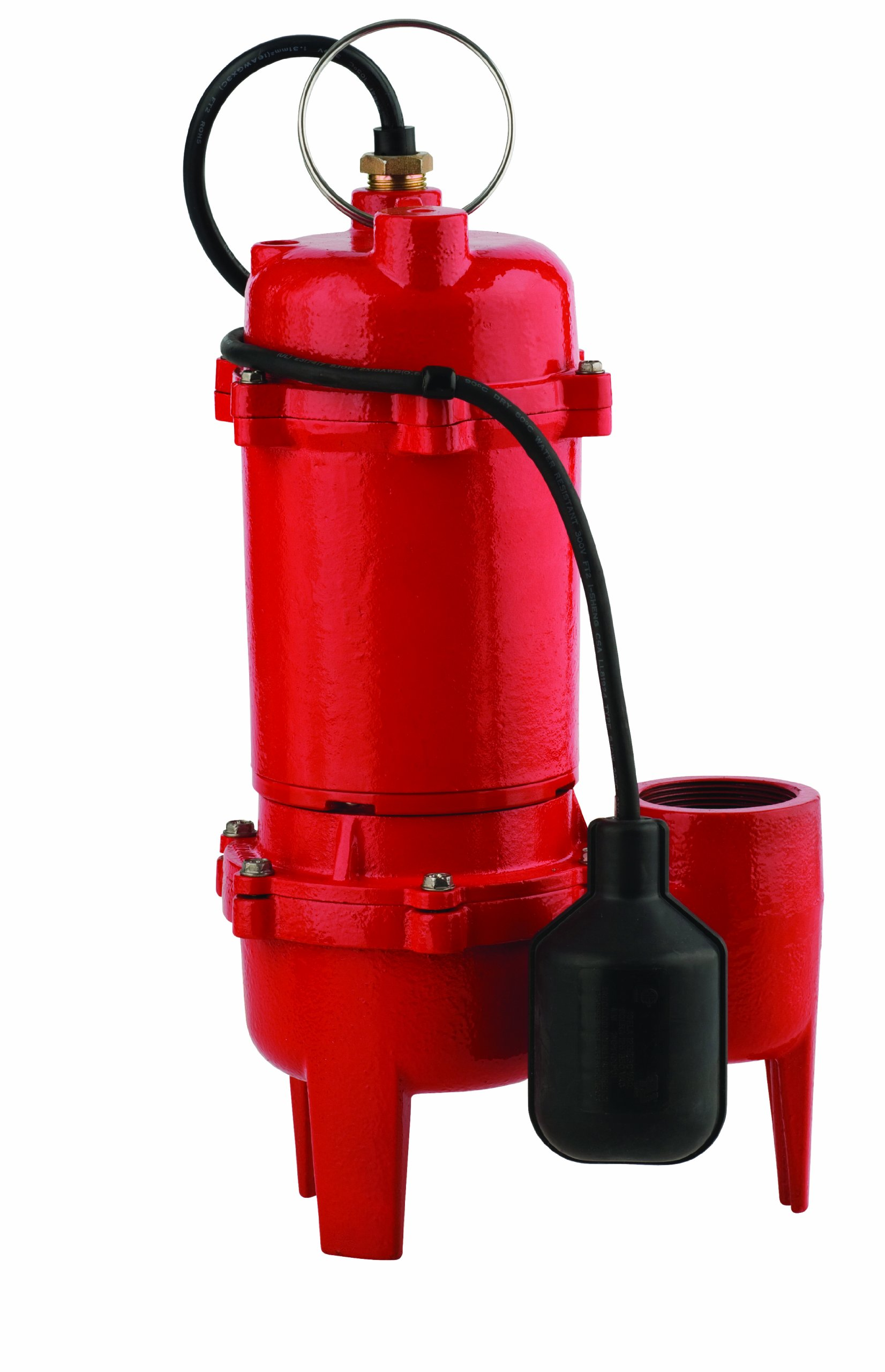 Red Lion RL-WC50TA 1/2-HP 5600-GPH Sewage Pump with Tethered Switch, Cast Iron by Red Lion