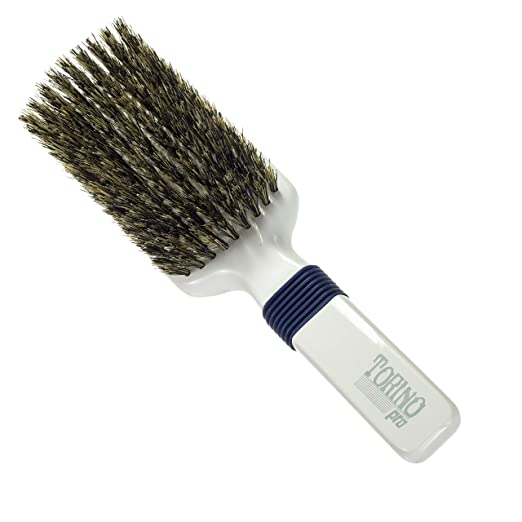 Torino Pro Medium Wave Brushes By Brush King #48- Rubber Grip Vertical Brush - 360 Wave Brushes - Great for connections and Wolfing