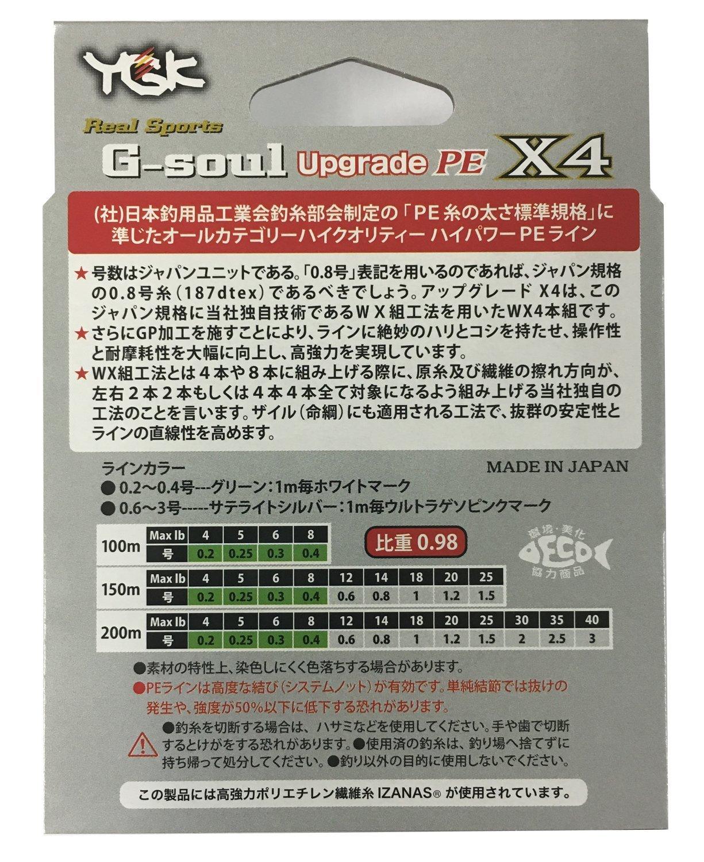 9508 30 lb YGK P.E Line G-Soul X4 Upgrade 200m P.E 2.0