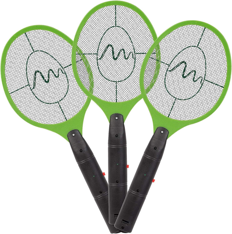 Kongqiabona-UK Hogar bater/ía matamoscas el/éctrico Mosquito el/éctrico Insecto Asesino Bug Zapper Raqueta Mosquito Wasp Swatter Electr/ónico