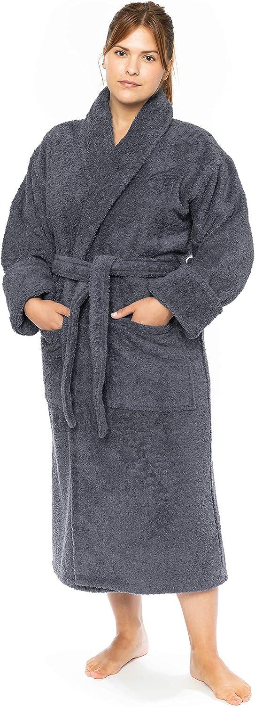 Luxury Terry Cloth Hotel Bathrobe - Premium 100% Turkish Cotton Robe Unisex