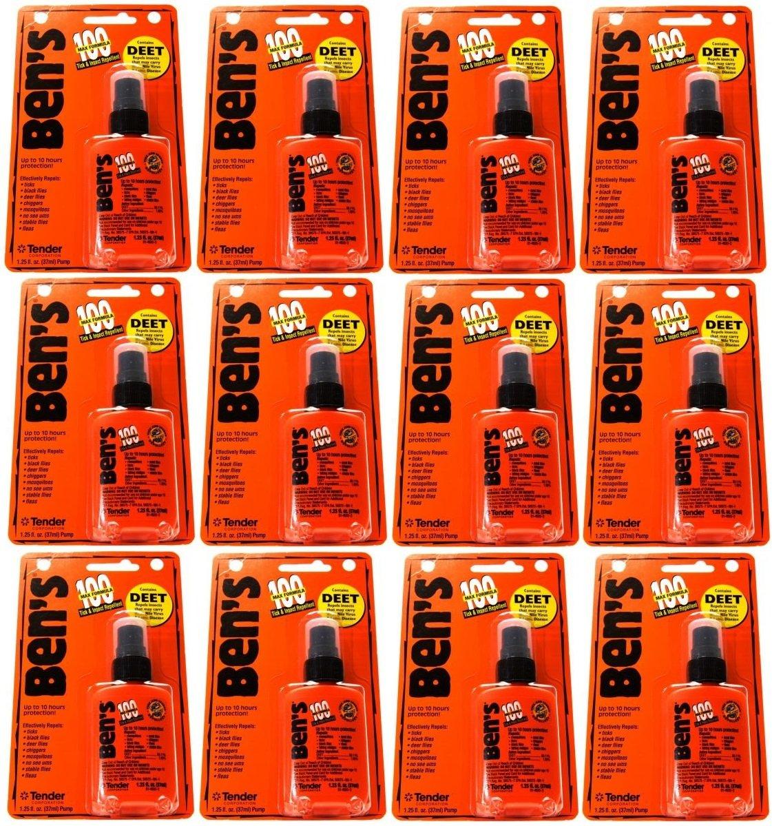 Ben's 100 Deet Max Formula Tick & Insect Repellent - 1.25 oz spray (case of 12)
