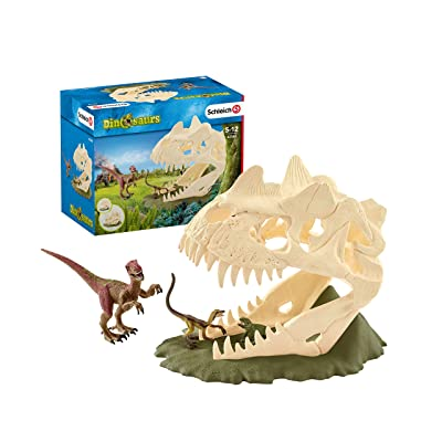 SCHLEICH Large Skull Trap with Velociraptor: Schleich: Toys & Games