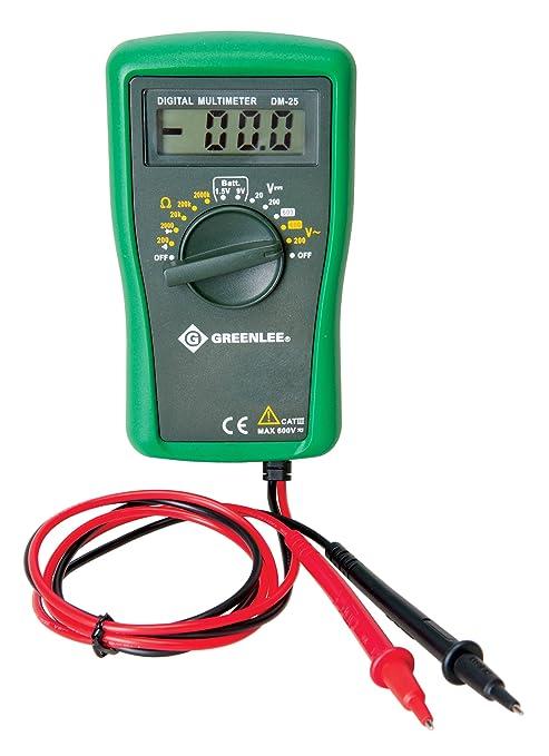 greenlee dm 25 catiii 600v manual ranging digital multimeter multi rh amazon com Instruction Manual Book greenlee dm-40 instruction manual