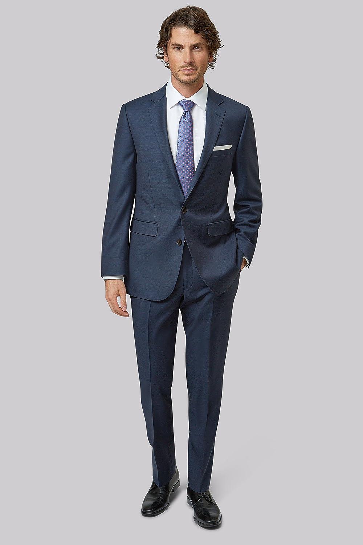 bab8c7ba837 Lanificio F.lli Cerruti Dal 1881 Cloth Men's Tailored Fit Indigo 3 Piece  Suit 40R Blue: Amazon.co.uk: Clothing