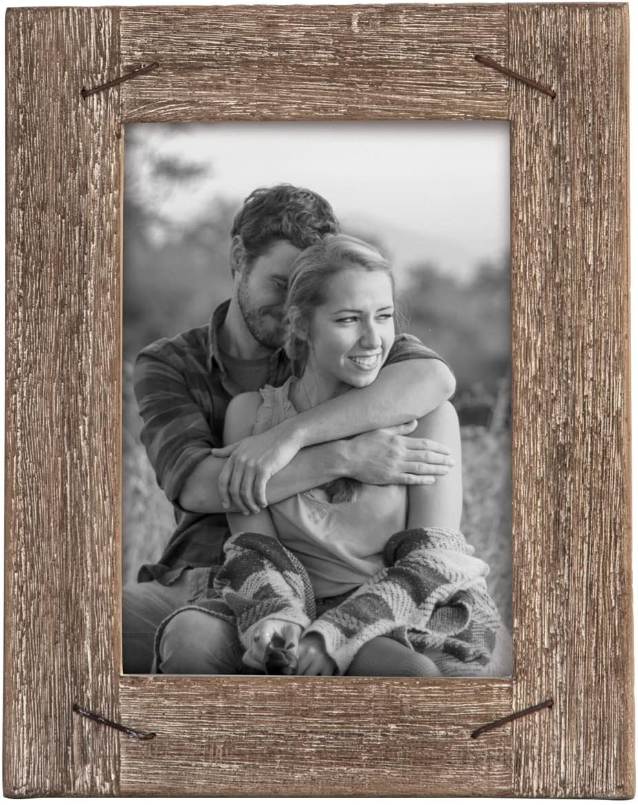 Foreside Home & Garden FFRD06215 5X7 Weathered Frame with Nail Accents