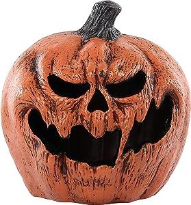 Seasonal Visions Light Up Evil Pumpkin Halloween Props and Decor, 11