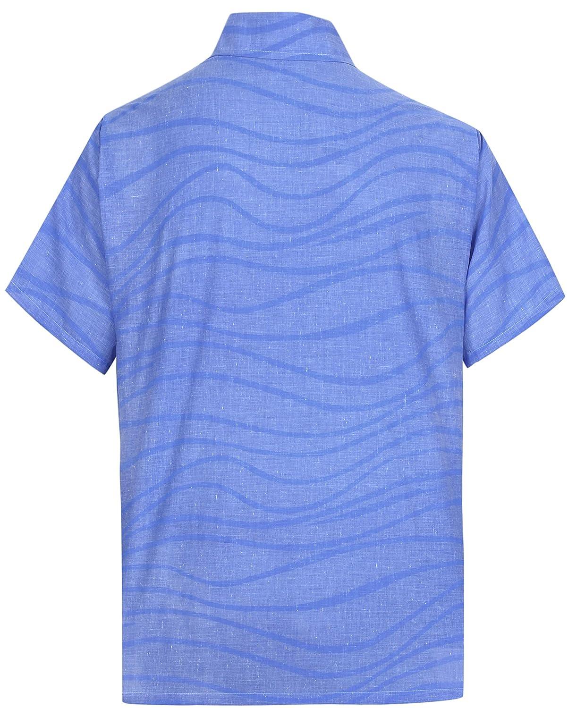 LA LEELA Everyday Essentials Casual Cotton Tropical Hawaiian Mens Shirt at