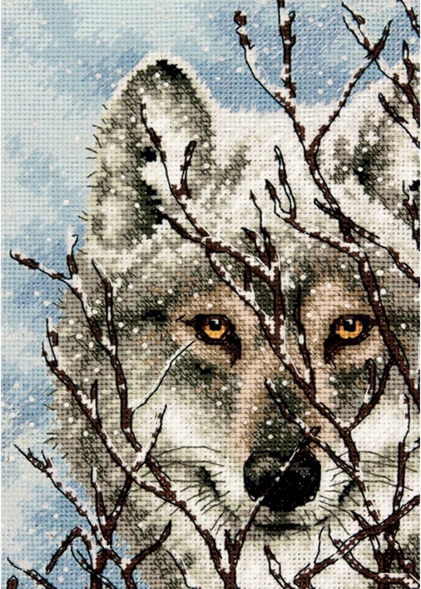 WOLF Chart Counted Cross Stitch Pattern Needlework