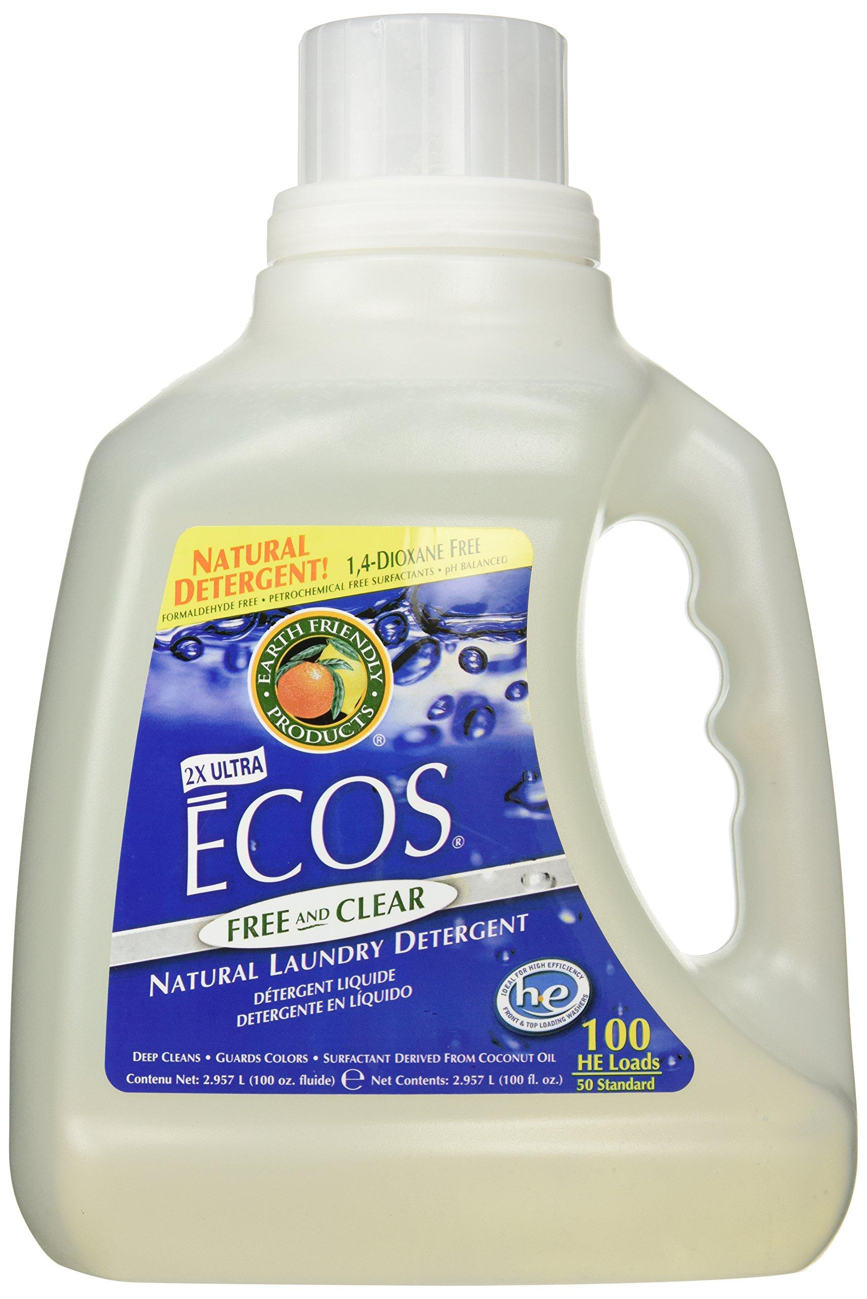 LAUNDRY ECOS FREE & CLEAR 100OZ