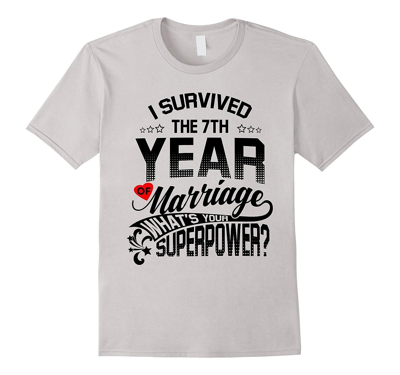 7 Year Wedding Gift: Anniversary Gift 7th 7 Years Wedding Marriage T-Shirt-Vaci