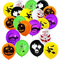 ELECLAND 60 Pcs Latex Halloween Balloons Printed Pumpkin Ghost Spider Witch, 6 Different Designs Balloons for Halloween…