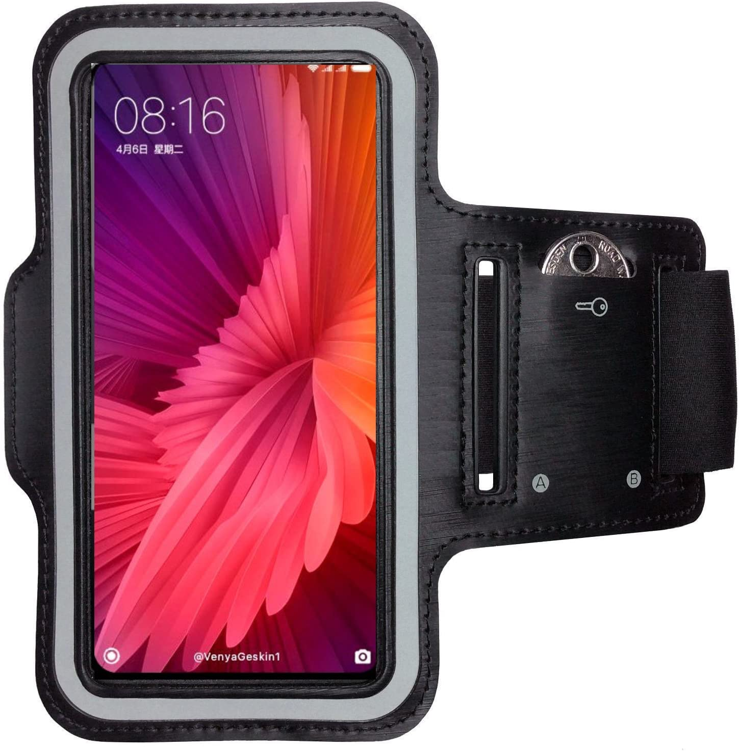 CoverKingz Xiaomi Mi Mix 2S brazalete deportivo Fitness m/óvil Correr de pulsera unidad de funda Case de running Negro Gym Fitness-Brazalete