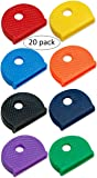 Lucky Line Standard Size Key Caps Identifiers Made To Fit KW1 & SC1 Key Ways, 20/PK of Assorted Colors (1650020)