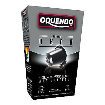 80 Cafés Oquendo Nespresso Compatible Coffee Capsules – (NERO) Premium Quality Nespresso...