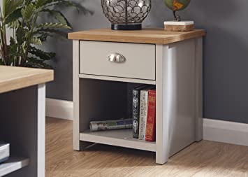 Lancaster Grey Living Room Furniture Range (Lamp Table): Amazon.co ...