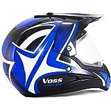 DUEBEL HD803 Casco de Moto Motocross *ECE 2205 APROBADO* Road Legal Azul (XL