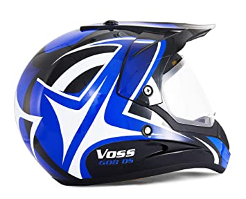 DUEBEL HD803 Casco de Moto Motocross *ECE 2205 APROBADO* Road Legal Azul (XL