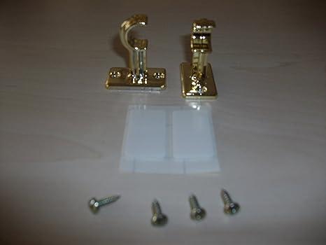 Faltenlegehaken weiß Öse 2-4mm Gardinenhaken an Gardinenringe für Scheibenstange
