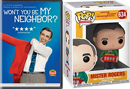 Amazon Com Kindness Makes A World Of Difference Mr Rogers Neighborhood Won T You Be My Neighbor Dvd Fred Funko Figure With Knit Sweater Creative 2 Pack Movies Tv