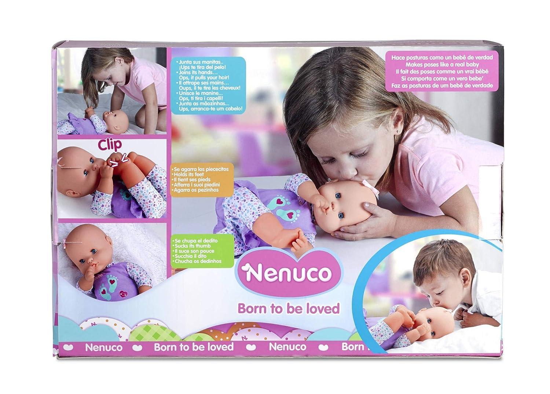 Nenuco de Famosa Posturitas, muñeca bebé para niñas y niños a partir de 1 año (Famosa 700014776)