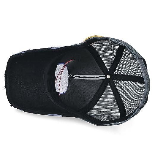 ililily NASA Meatball Logo Embroidery Baseball Cap Apollo 1 Patch Trucker Hat, Black: Amazon.es: Ropa y accesorios