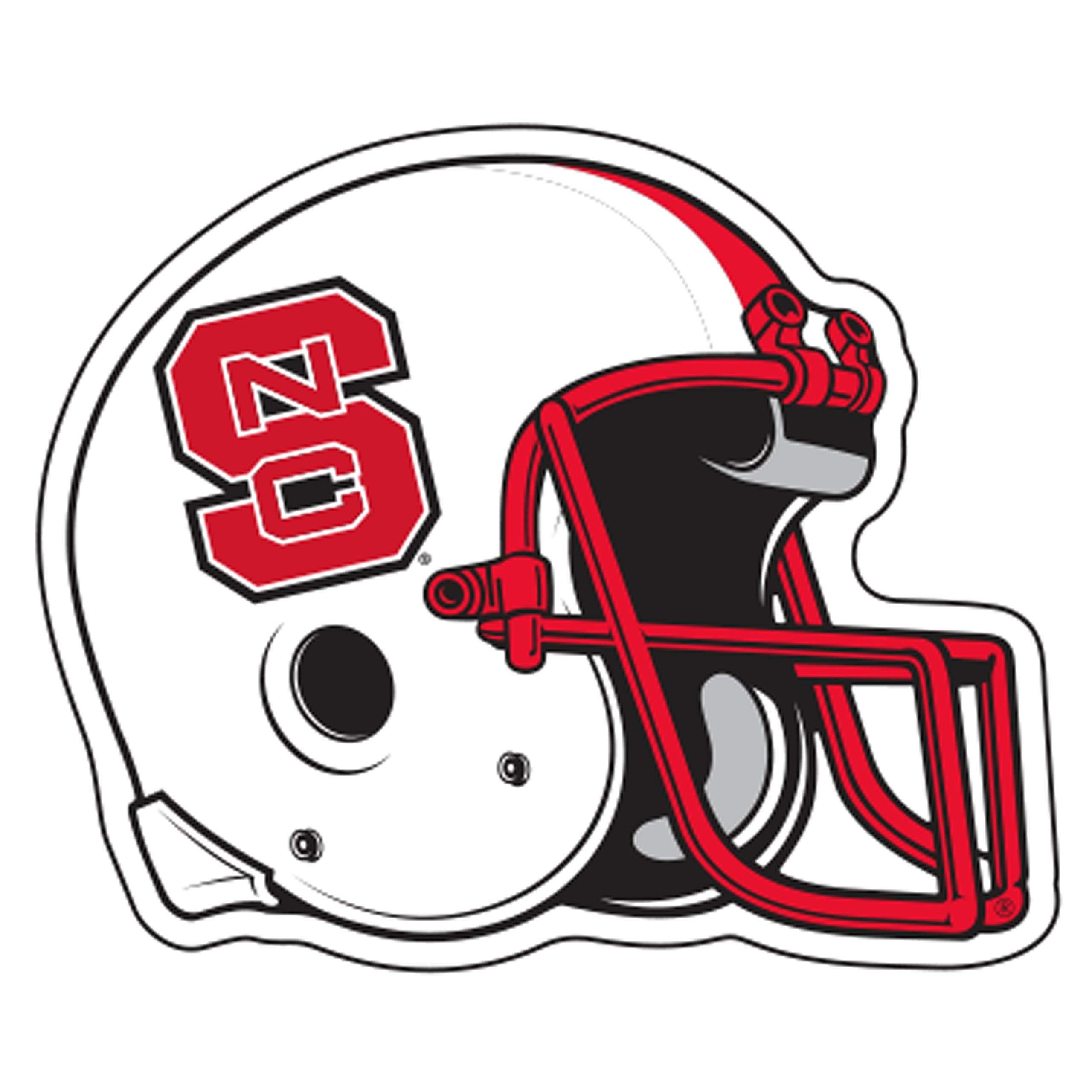 North Carolina State Magnet (NCS Helmet Magnet (4''9''), 4'') by Craftique