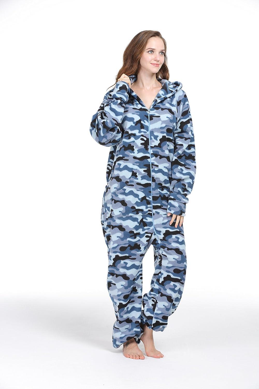 d75fabdb3e PartyPajama Women s   Men s Fleece Hooded Onesies One-Piece Pyjamas Costume  (XXX-Large