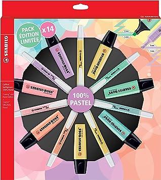 Stabilo - Rotuladores marcadores pastel (14 unidades, 100% pastel), color pastel: Amazon.es: Oficina y papelería