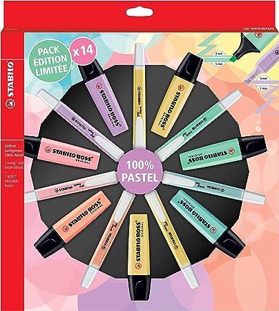 Stabilo - Rotuladores marcadores pastel (14 unidades, 100% pastel ...