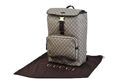 Gucci Mochila GG Logo Funda Supreme Canvas Beige Marrón