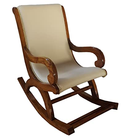Tayyaba Enterprises Shesham Wood Rocking Chair With Cushion