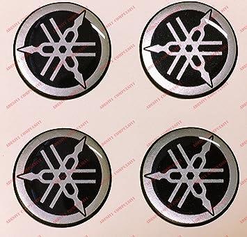 Kit de 4 adhesivos resinados con el emblema/logotipo de Yamaha con efecto 3DColor: