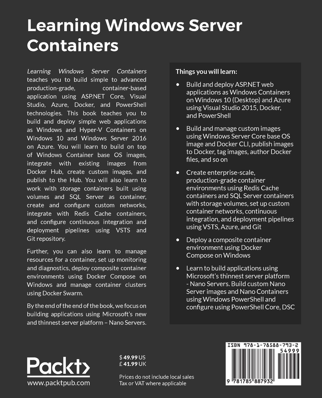 Buy Learning Windows Server Containers Book Online at Low Prices in
